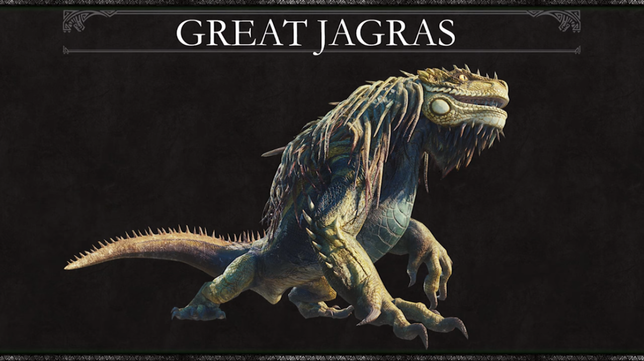 Great Jagras Monster Hunter Beta