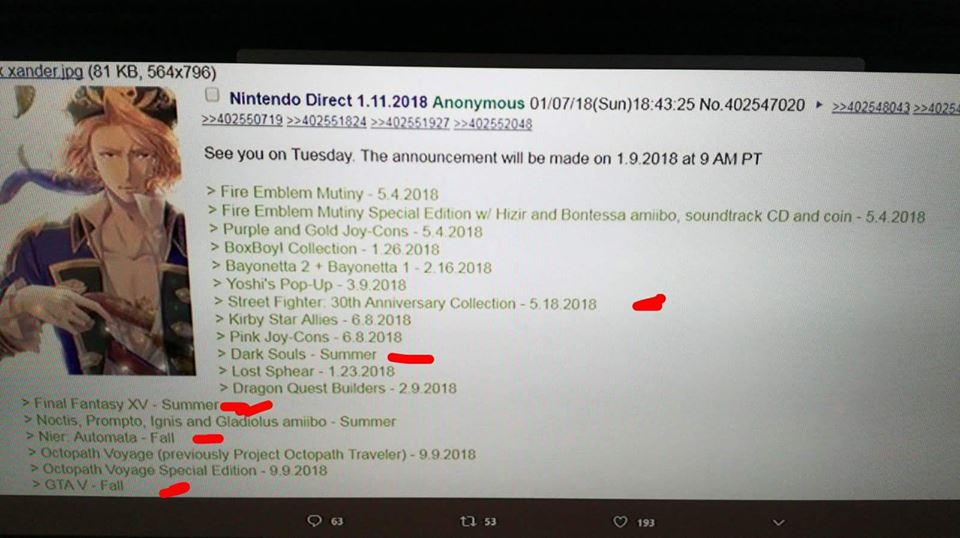 Nintendo Direct Leak | 17K Group