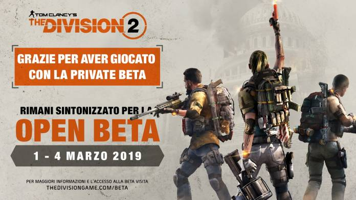 The Division 2 Beta pubblica