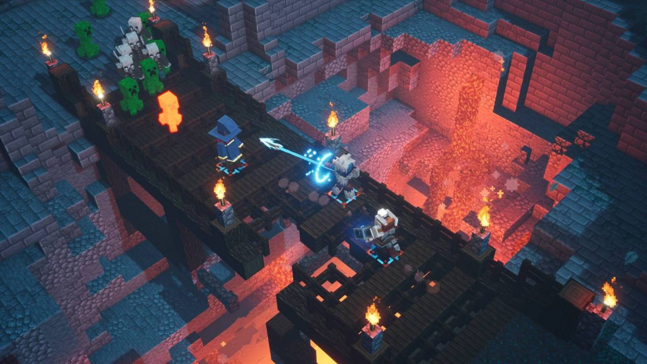 Minecraft Dungeons, un video mostra i controlli touch